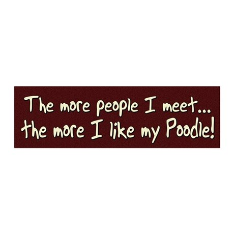 morepeople_poodle 20x6 Wall Decal