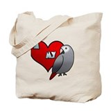 African grey Canvas Bags