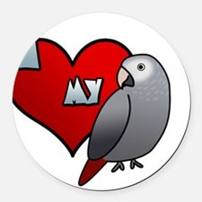 iheartmy_timneh_blk Round Car Magnet