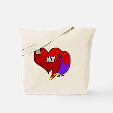 iheartmy_vm_hen_blk Tote Bag