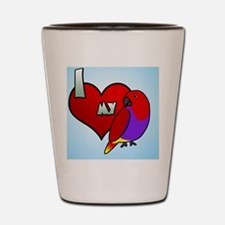iheartmy_vm_hen_ornament Shot Glass