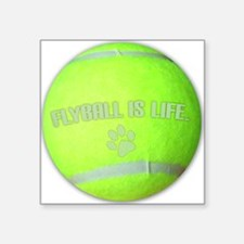 "flyball_life Square Sticker 3"" x 3"""