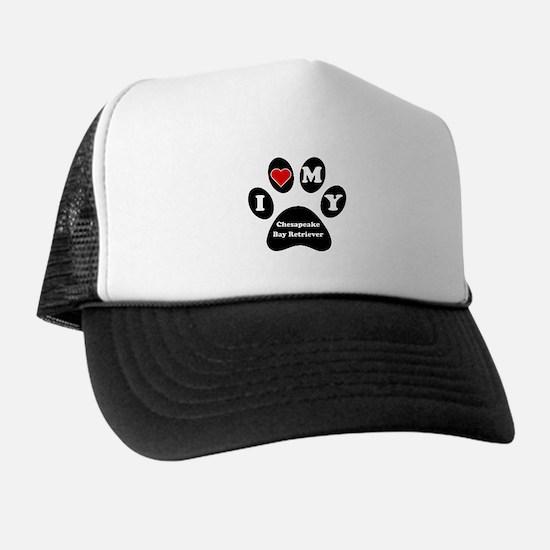 I Heart My Chesapeake Bay Retriever Trucker Hat