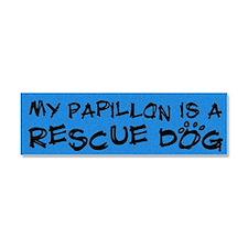 rescuedog_papillon Car Magnet 10 x 3