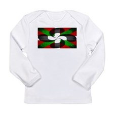 Basque Flag and Cross Long Sleeve Infant T-Shirt