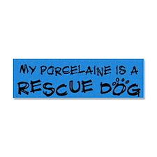 rescuedog_porcelaine Car Magnet 10 x 3