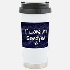 funklove_oval_samoyed Stainless Steel Travel Mug