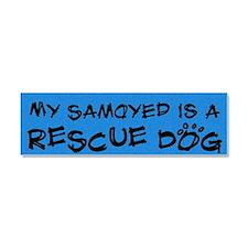 rescuedog_samoyed Car Magnet 10 x 3