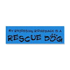 rescuedog_rhodesian Car Magnet 10 x 3