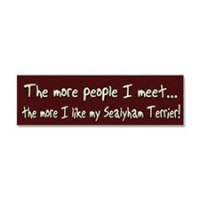 morepeople_sealyham Car Magnet 10 x 3
