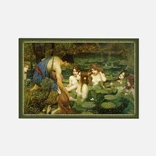 """Hylas and the Nymphs"" Rectangle Magnet"