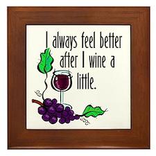 I Whine & Wine Framed Tile