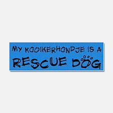 rescuedog_kooiker Car Magnet 10 x 3