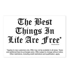 Best Things Are Free* Postcards (Package of 8)