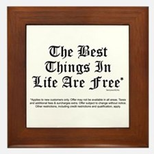 Best Things Are Free* Framed Tile