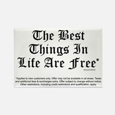 Best Things Are Free* Rectangle Magnet (10 pack)