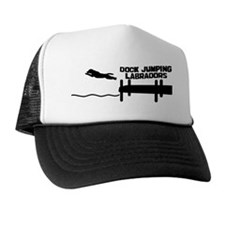 dogjumping_labrador_mug Trucker Hat