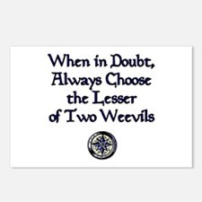 The Lesser of Two Weevils Postcards (Package of 8)