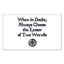 The Lesser of Two Weevils Rectangle Decal