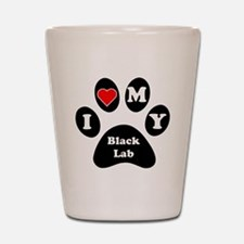I Heart My Black Lab Shot Glass