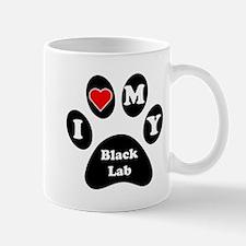 I Heart My Black Lab Mug