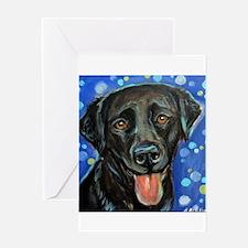 Black Labrador smile Greeting Card
