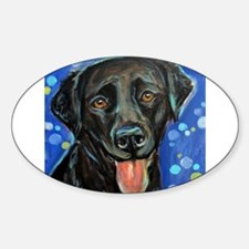 Black Labrador smile Decal