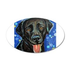 Black Labrador smile Wall Decal