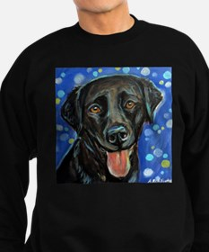 Black Labrador smile Sweatshirt
