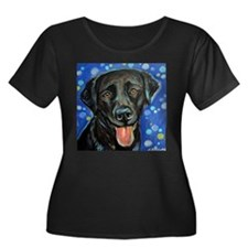 Black Labrador smile Plus Size T-Shirt