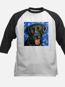 Black Labrador smile Baseball Jersey