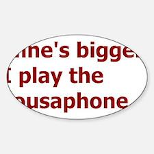 Bigger Sousaphone Decal