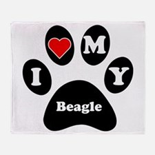I Heart My Beagle Throw Blanket