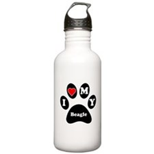 I Heart My Beagle Water Bottle