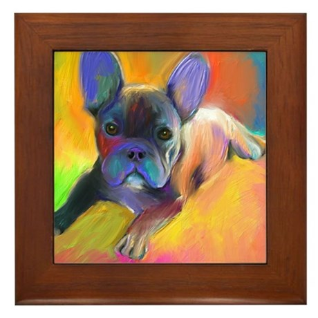 French bulldog 1 Framed Tile