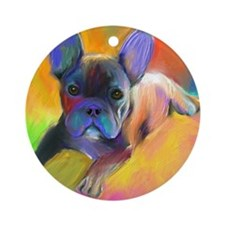 French bulldog 1  Ornament (Round)