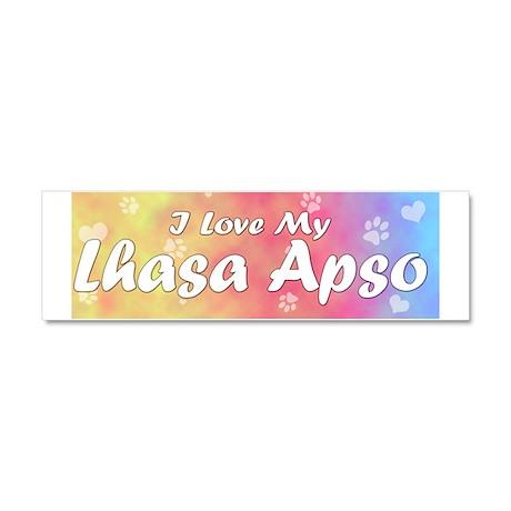 lhasa_pastelluv Car Magnet 10 x 3
