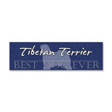 tibetanterrier_bestdogever Car Magnet 10 x 3
