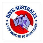 Dive Australia (rd) Square Car Magnet 3