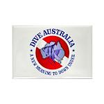 Dive Australia (rd) Rectangle Magnet (10 pack)