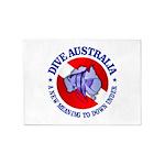 Dive Australia (rd) 5'x7'Area Rug