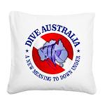 Dive Australia (rd) Square Canvas Pillow