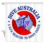 Dive Australia (rd) Shower Curtain