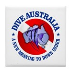 Dive Australia (rd) Tile Coaster