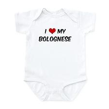 I Love: Bolognese Infant Bodysuit