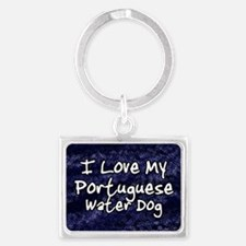 funklove_oval_portuguese Landscape Keychain