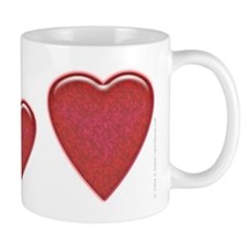 Candied Red Heart 11oz. Mug