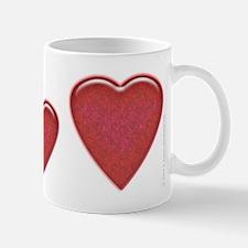 Candied Red Heart 11oz. Mug