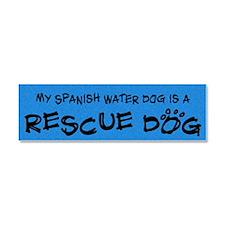 rescuedog_spanish Car Magnet 10 x 3