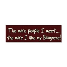 morepeople_bolognese Car Magnet 10 x 3